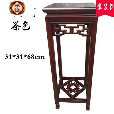 新中式實木花架客廳落地盆景架古典質仿古花幾置物架簡約禪意木質