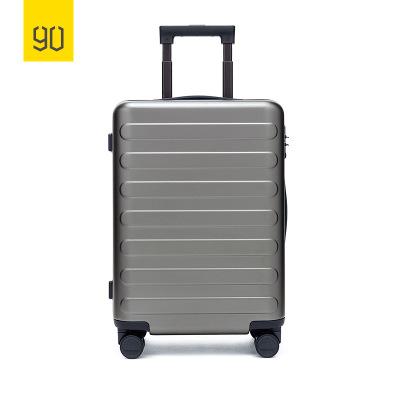 90分商旅兩用旅行箱靜音萬向輪商務登機行李箱子 男女密碼拉桿箱 寧靜灰 20寸