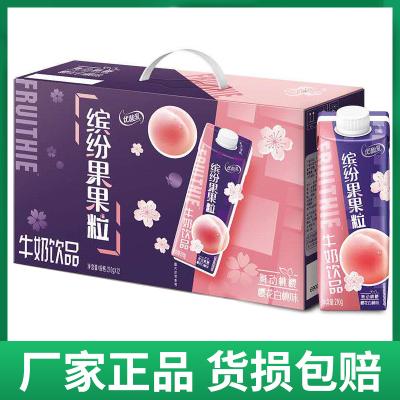 伊利優酸乳果果粒牛奶210g*12盒整箱批發酸奶飲品(口味隨機)