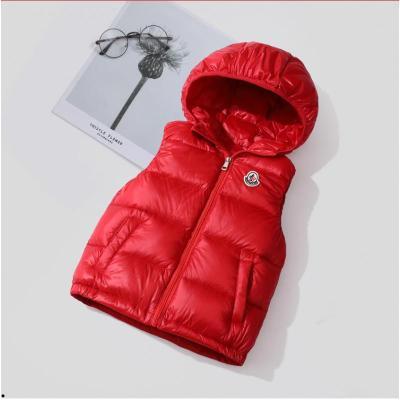 儿童羽绒马甲秋冬季新款男童女童加厚坎肩背心中小童宝宝连帽外套