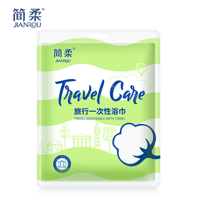 简柔一次性浴巾纯棉大毛巾户外旅行便携快干浴巾无纺布加厚 1包装新旧包装随机发
