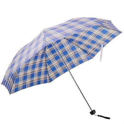 天堂 339S蘇格蘭風格格子三折晴雨傘男女商務傘57cm*7骨 新老款隨機發貨