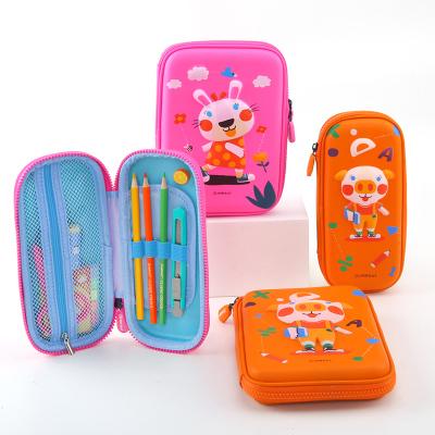 JoanMiro美樂 文具盒幼兒園小學生多功能創意3D立體筆袋兒童多層防水鉛筆盒 小豬尼克(小)