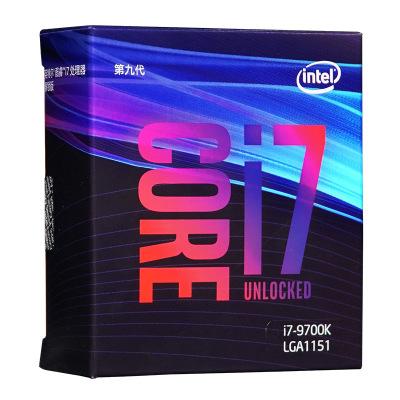英特爾 酷睿I7 9700K 盒裝CPU 8核處理器  (兼容Z390 Z370 B365主板)