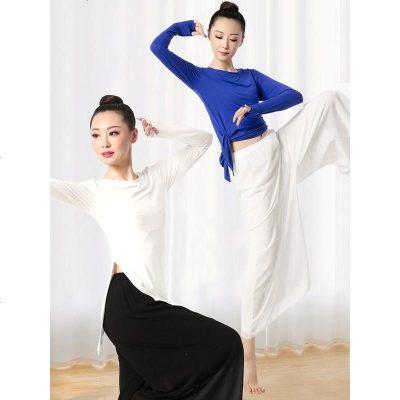 秋季舞蹈练功服女古典舞形体服训练跳舞服装莫代尔上衣现代舞套装