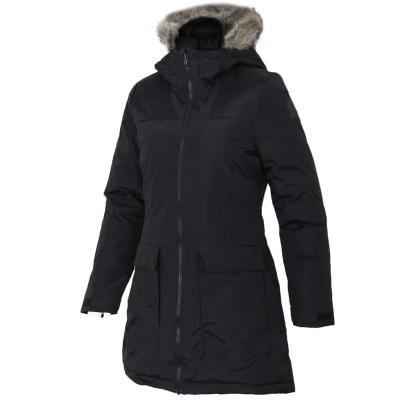 阿迪達斯(adidas)女士長款連帽棉服運動棉衣保暖棉襖BQ6803