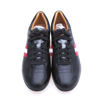 Bally 巴利 黑色配红白条耐磨橡胶底牛皮运动户外休闲鞋系带男鞋 HALKY/60男鞋女鞋情侣鞋