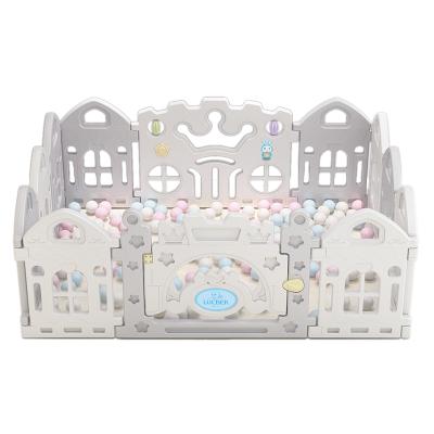 魯咔貝卡 兒童嬰兒游戲圍欄 嬰兒童學室內游戲步安全護欄柵欄寶寶爬行墊海洋球圍欄 10+2 1.6×1.2