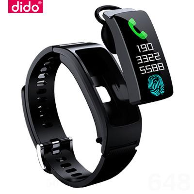 dido智能手环蓝牙耳机二合一分离式可通话监测心率血压男女记计步器多功能彩屏运动手表适用vivo苹果oppo手机%100防水