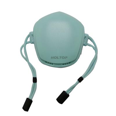 环都(HOLTOP)儿童款防霾运动口罩电动口罩净化PM2.5佩带舒适HKZ-R1(蓝)