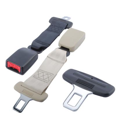 安全帶插片安全帶摳頭型多功能安全帶延長汽車安全帶閃電客加長接頭安全帶裝飾 黑色插片