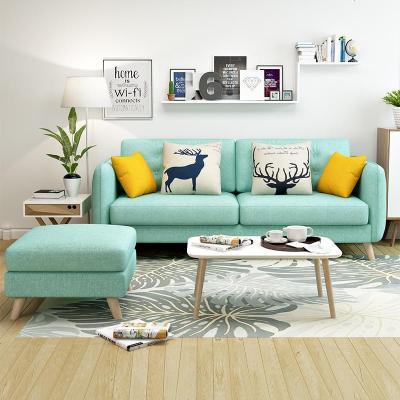 航竹坊 北欧ins风格家具简约现代客厅小户型双人三人轻奢布艺沙发网红款