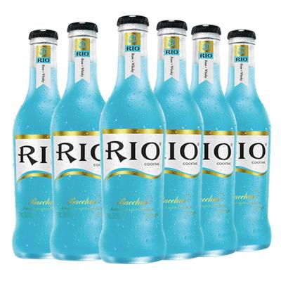 锐澳(RIO)洋酒 鸡尾酒 预调酒果酒 蓝玫瑰味 275ml*6瓶