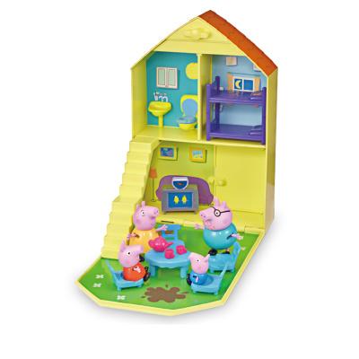 【內含一家四口】小豬佩奇 兒童男女孩3-6歲早教啟蒙過家家場景角色扮演套裝 歡樂家庭屋