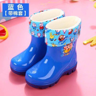 2-10歲水鞋加絨卡通兒童雨鞋夏季可愛男女膠鞋防滑大中小童防水靴 臻澀