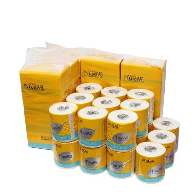 诺唯娅(NWY02)竹纤维本色 软抽纸390张*20包 + 卷纸140克*21卷 箱装