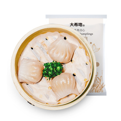 【约3.8发】大希地 水晶虾饺皇 300g*5袋(12只/袋) 粤式点心 水晶薄皮 虾仁饱满
