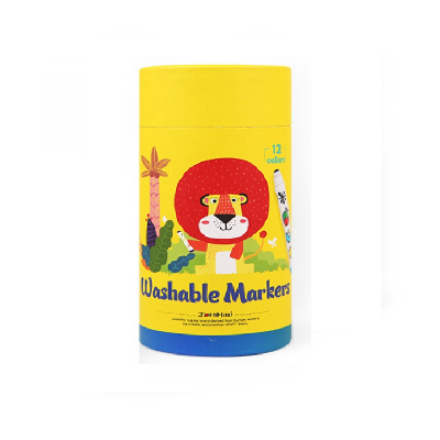 Joan Miro 美樂 兒童水彩筆繪畫套裝無毒可水洗畫筆寶寶畫畫涂鴉筆圓頭水彩筆水溶性彩筆 12色 創意玩具