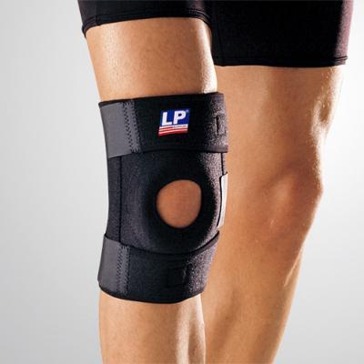 LP733护膝双弹簧支撑型护膝 网排足篮羽毛球运动护膝 半月板护膝