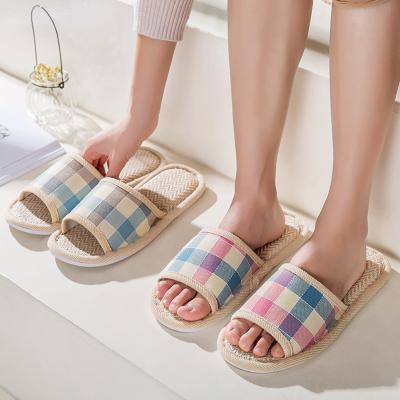 拖鞋家用四季男女兒童棉麻布藝春秋冬夏室內亞麻地板家居家一次性