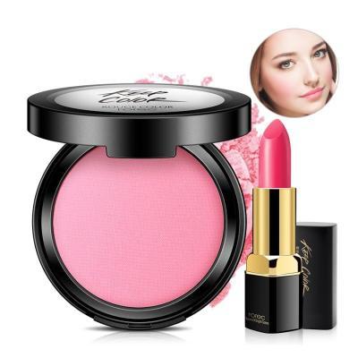 韓嬋 5G 氣墊腮紅+口紅一支裸妝紅粉保濕提亮膚色化妝品女
