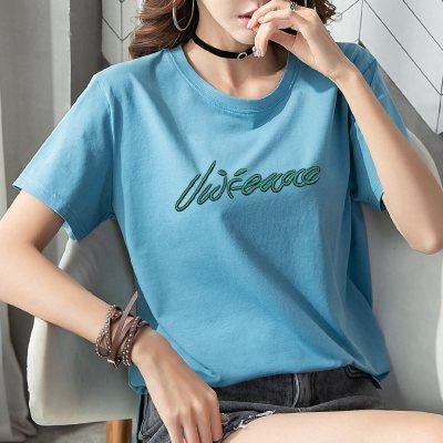 班俏BANQIAO短袖網紅T恤女2020年夏季新款寬松ins超火半袖體桖打底衫上衣