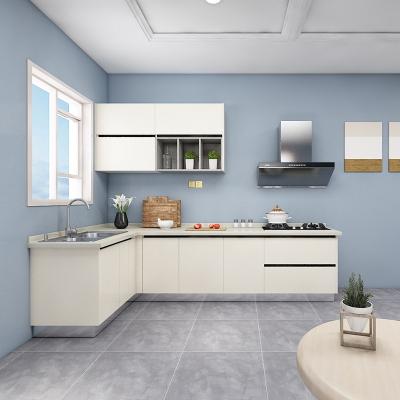 欧派整体橱柜定制橱柜厨房装修现代简约橱柜刨花板多种花色3.6米19800套餐预付金