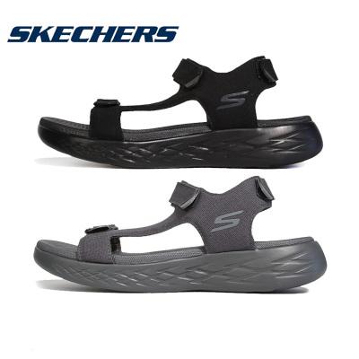 Skechers斯凯奇凉鞋男鞋2019夏季新款轻便魔术贴运动休闲凉拖沙滩鞋55369