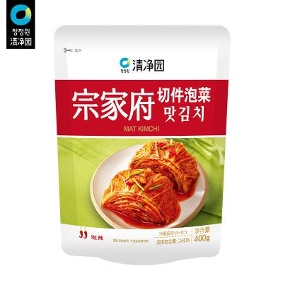 清凈園宗家府韓國切件泡菜400g 韓式小菜袋裝咸菜下飯菜配飯菜小菜