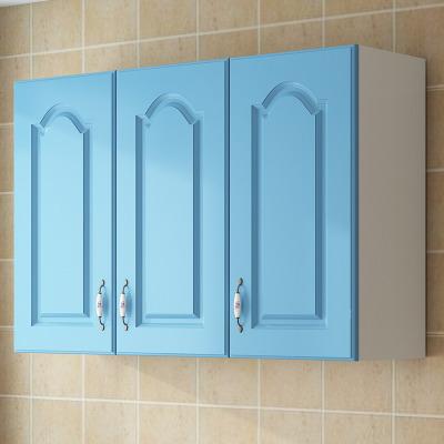 廚房吊柜餐廳墻壁柜子掛墻式陽臺臥室墻上壁掛儲物浴室衣柜置物架 天藍長90*深30*高60 三無底柜