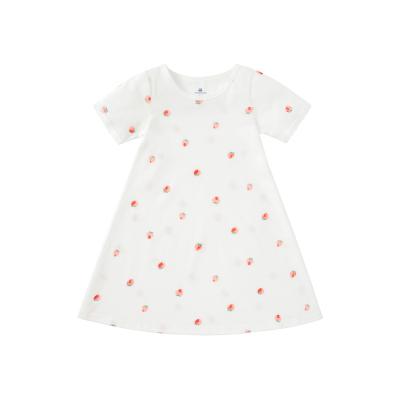 迷你巴拉巴拉女童家居裙2020夏季新款女寶寶透氣紗布家居連衣裙