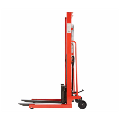 堆高车 手动液压叉车 手推升高车升降车堆垛车 1吨升高1.6米