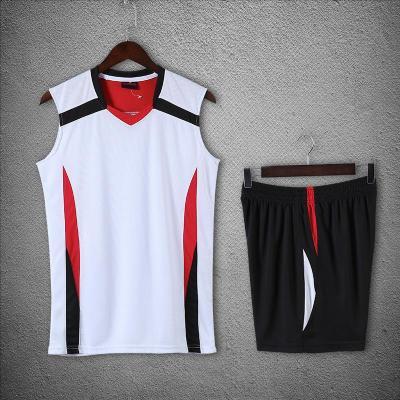 新款排球服男女款無袖套裝中國家隊服印號定制訓練比賽氣排球服