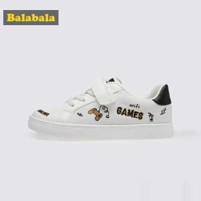 巴拉巴拉兒童帆布鞋男童鞋寶寶鞋子女春春兒童布鞋小白鞋潮酷