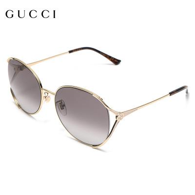 Gucci/古馳太陽鏡2020新款女士防紫外線眼鏡圓形大框墨鏡GG0650SK-002-59