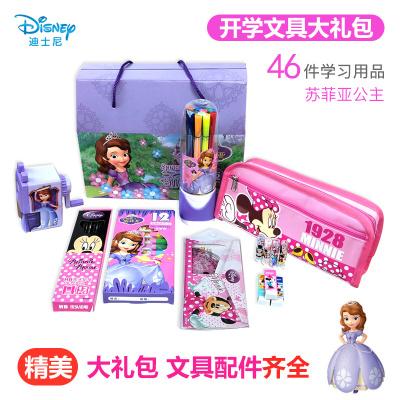 迪士尼(Disney)文具套裝禮盒 小學生學習用品大禮包兒童幼兒園開學禮物 學習用具開學季鉛筆尺子橡皮學生文具禮包