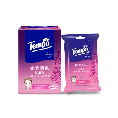 Tempo/得寶 濕巾 卸妝濕巾 12片*5包(量販盒裝) 濕紙巾
