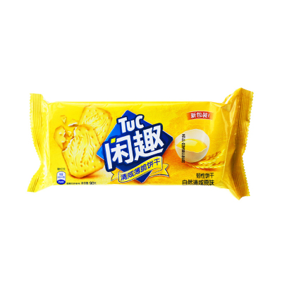 闲趣 韧性饼干(自然清咸原味)90g/袋