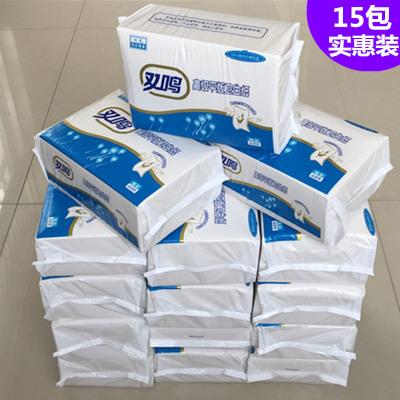 工厂直营15包688系列平板卫生纸家用刀切草纸厕纸皱纹厕用纸方块纸本色纸