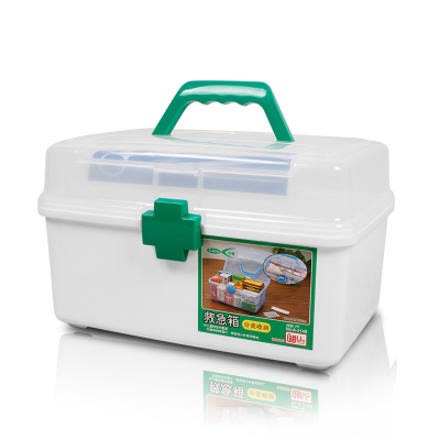 可孚大号药箱家庭实用药品收纳盒防摔便携透明塑料小物品收纳药箱药品保存箱Cofoe药箱器械