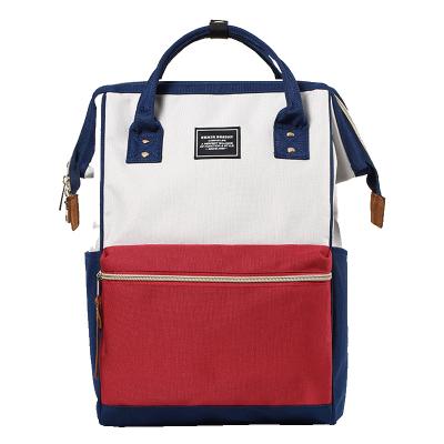 森马双肩包女日系休闲双肩背包男旅行大容量学生书包 离家出走包