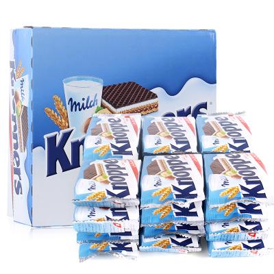 【榛子巧克力多层饼干】德国进口(Knoppers)牛奶榛子巧克力威化夹心饼干600g 24连包