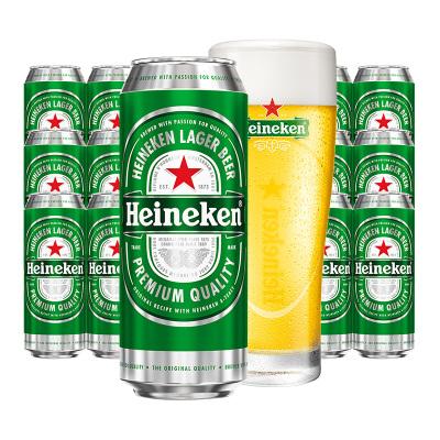 喜力(Heineken)啤酒500ml*3*6罐 整箱裝 (新老包裝隨機發貨中)