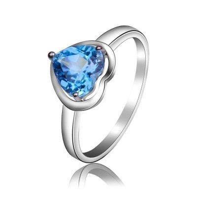 夢克拉Mkela 18K金鑲藍色托帕石戒指 蕙質蘭心 女士 寶石戒指