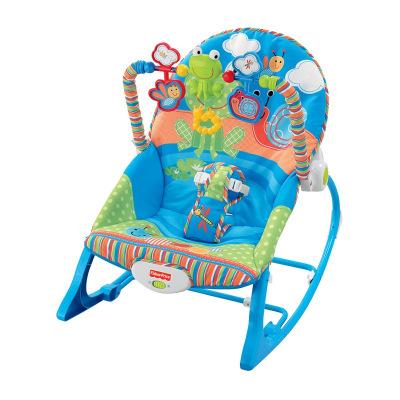 费雪 Fisher-Price 婴儿安抚玩具 安抚互动多功能轻便摇椅 婴儿安抚摇椅DRD27