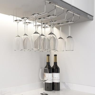 紅酒杯架倒掛家用高腳杯架子閃電客酒架不銹鋼杯架擺件掛架酒柜懸掛吊壁