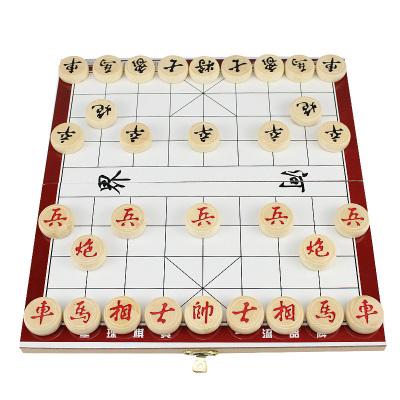 星球象棋中國象棋兒童實木無磁性B102象棋成人折疊棋盤學生培訓木質相棋家用