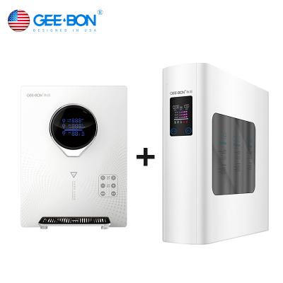 美国净邦(GEE·BON) 净水器家用直饮GB-RO-06X无桶+速热管线机GB-GXJ-12白色 净饮速热分体组合套装