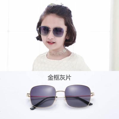 2019新款儿童偏光太阳镜方框宝宝眼镜墨镜女童男童潮防紫外线