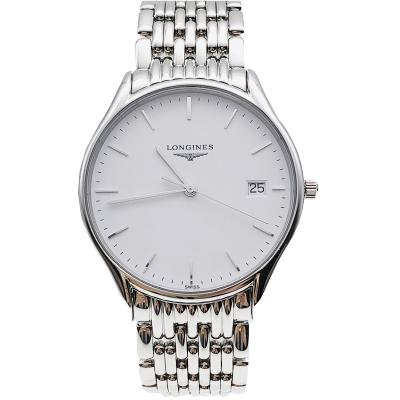 【二手95新】浪琴LONGINES優雅系列L4.759.4.12.6男表石英奢侈品鐘手表腕表
